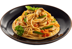 Pasta with vegetable in marinara sauce